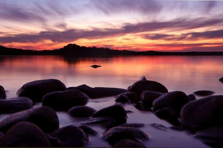Tasmanien im Abendlich