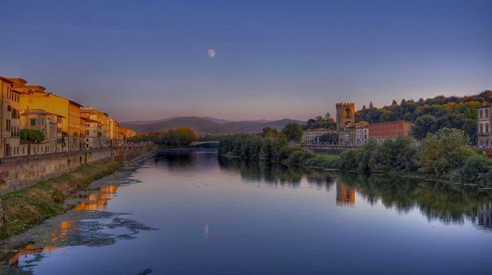 Mondaufgang in Florenz